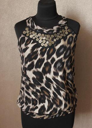 Майка-блузка леопардовая