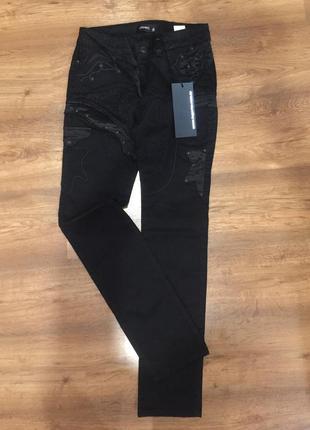 Черные зауженные брюки lagarto
