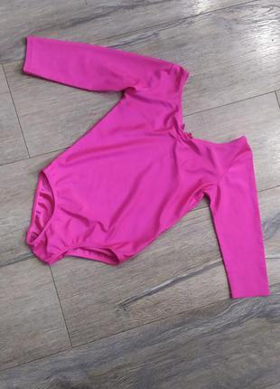 H&m,спортивный купальник цвета фуксии, есть юбка пачка 122-128 см
