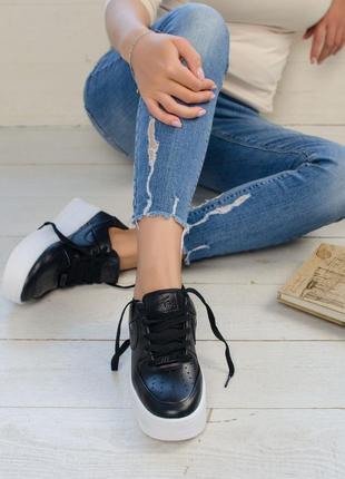 Классные кроссовки  💪 nike air force black white  💪