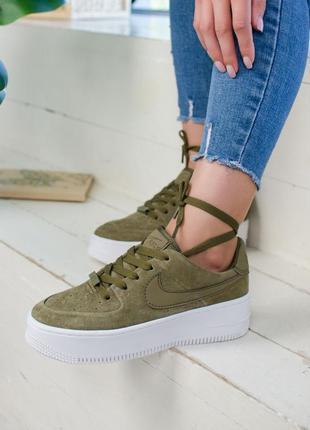 Крутые кроссовки  💪 nike air force green  💪