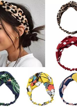Повязка на голову женская-детская, 5 цветов, новая