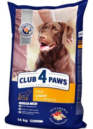 Корм Клуб 4 Лапы для собак контроль веса 14кг