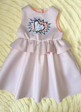 Платье fendi  оригинал  12м люксовый сегмент на лето