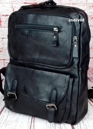 Кожаный рюкзак. мужской портфель. сумка для ноутбука.  сумка д...