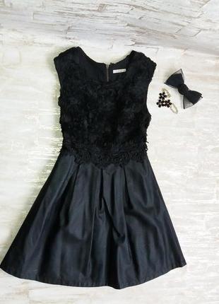 Платье нарядное из эко кожи