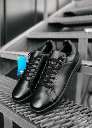 Адидас стен смит чёрные, adidas stan smith