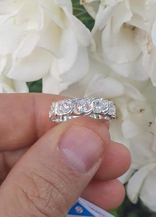 Серебряное кольцо цепь