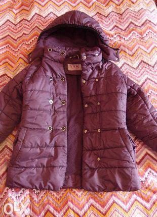 Куртка-пальто деми на синтепоне 110-116см