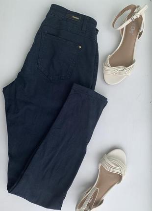 Темно-синие брюки reserved