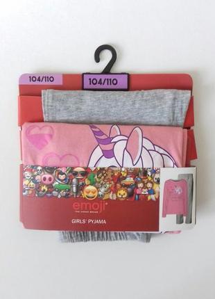 Трикотажна піжамка 104/110 см. disney / unicorn emoji®