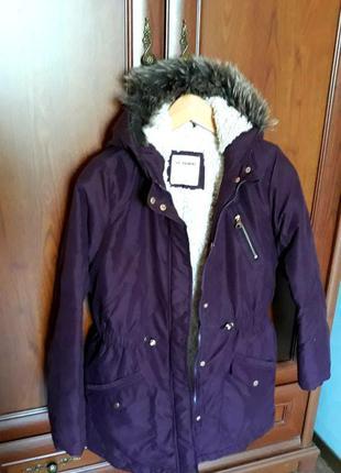 Утепленная курточка на девочку 13 лет
