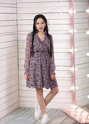 ❤ женское летнее платье в цветочек, пояс в комплекте.  ❤