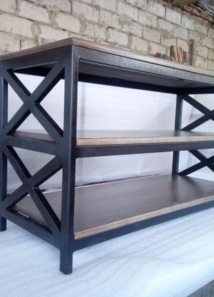 Стіл в стилі Лофт під ТВ