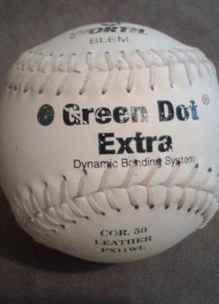 Фирменный кожаный бейсбольный мяч Green Dot (Софтбол) производ...