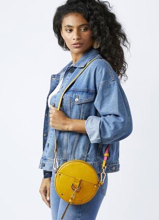 Оригинальная круглая фирменная сумка кросс-боди accessorize с ...
