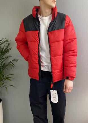 Крутая дутая курточка pull & bear puffer jacket