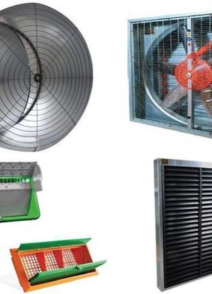Светозащита для вентиляторов, системы вентиляции для ферм