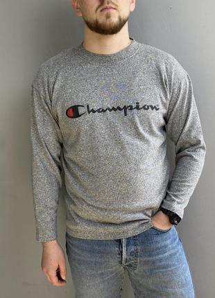 Крутой свитшот champion vintage longsleeve