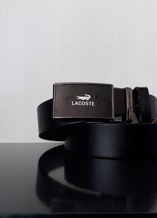 Мужской ремень кожаный lacoste