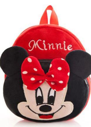 Чудесный плюшевый детский рюкзак Минни Маус