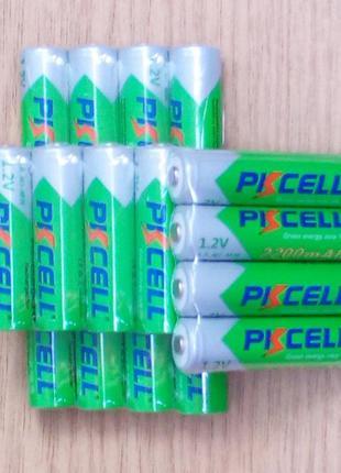 AA-ААА аккумуляторы 2200mAh PKCELL Ni-MH, качество (аналог Ene...
