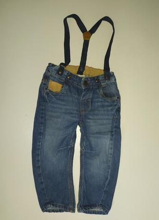 Джинсы штаны с подтяжками