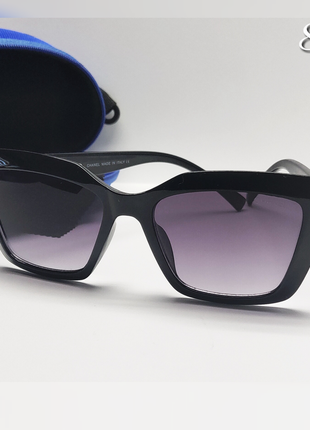 Стильные женские очки с декором цепочка на дужке