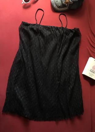 Стильное черное платье сарафан