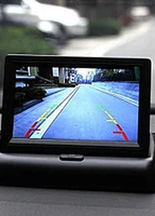 """Автомобильный раскладной монитор камеры заднего вида 4.3"""" машин а"""