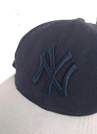 Кепка бейсболка new era new york yankees baseball с прямым коз...