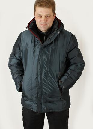 Куртка мужская зимняя Avecs AV7342694B баталы Размеры 56 58 60 62