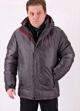 Куртка мужская зимняя Avecs AV7342694B баталы Размеры 56 60 62