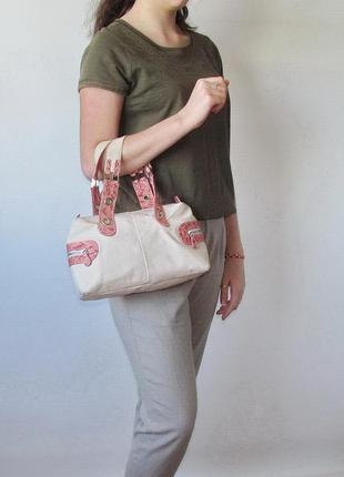 Легкая сумка, натуральная кожа