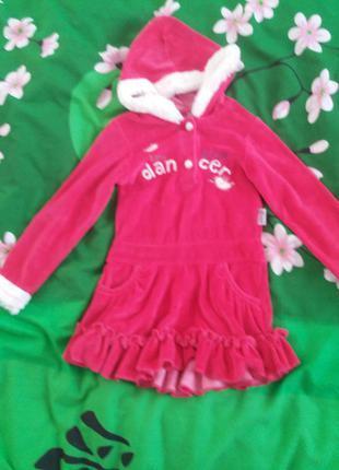 Платье для девочки теплое