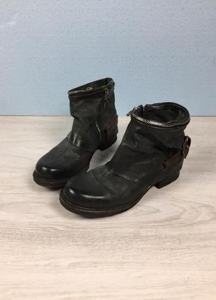 Кожаные ботинки ботильоны полусапожки a.s. 98 airstep prada gu...