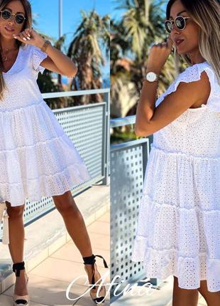 Платье белое прошва