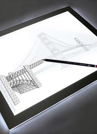 Планшет с LED-подсветкой для рисования, ультра тонкий А4 и А5
