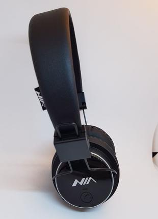 Беспроводные Bluetooth Наушники Nia-Q8 + FM + Карта памяти
