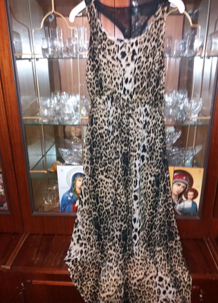 Сарафан молодежный леопардовый