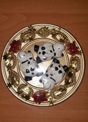 Керамическая декоративная тарелка с свечами