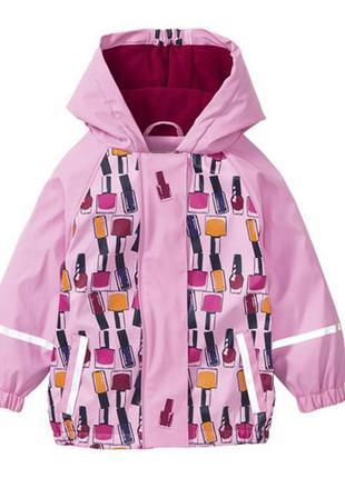 Куртка-дождевик на флисе, грязепруф lupilu 86-92р