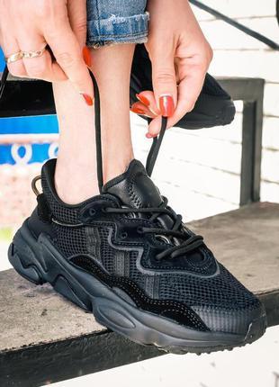 Кросівки adidas ozweego all black woman кроссовки