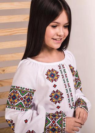 Роскошная блуза вышиванка вышивка на домотканом полотне