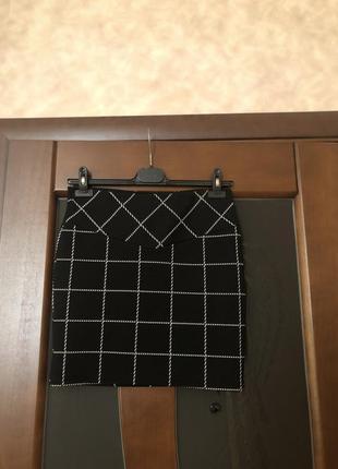 Трендовая юбка-карандаш мини в клетку от stradivarius. супер!