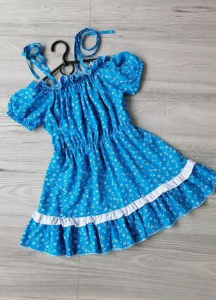 """Милое, нежное, модное платье """"милаша"""" из штапеля на рост 122-1..."""