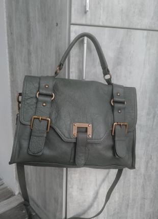Стильная кожаная сумка -портфель