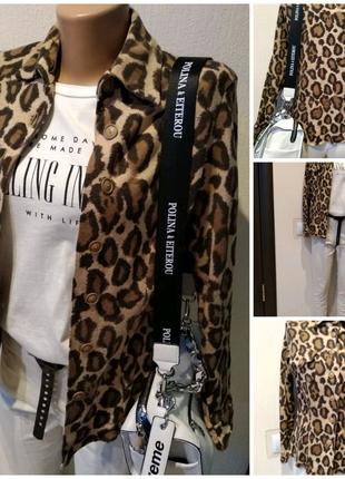 Натуральный шерсть стильный леопардовый пиджак жакет блейзер кард