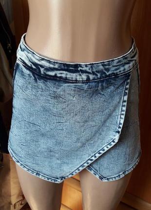 Шорты юбка джинс деним варенка