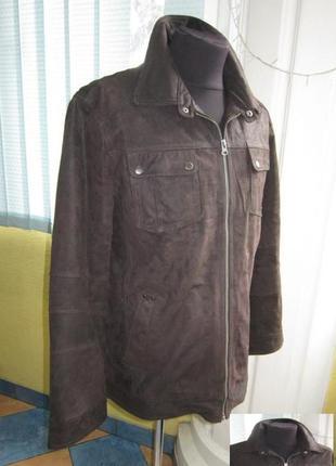 Демисезонная мужская кожаная куртка charles vogele. лот 876